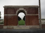 Entrance– Nine Elms British Cemetery, Belgium Photo courtesy of J. Elliott/J. Rutledge, The Men of Huron WW1 Project