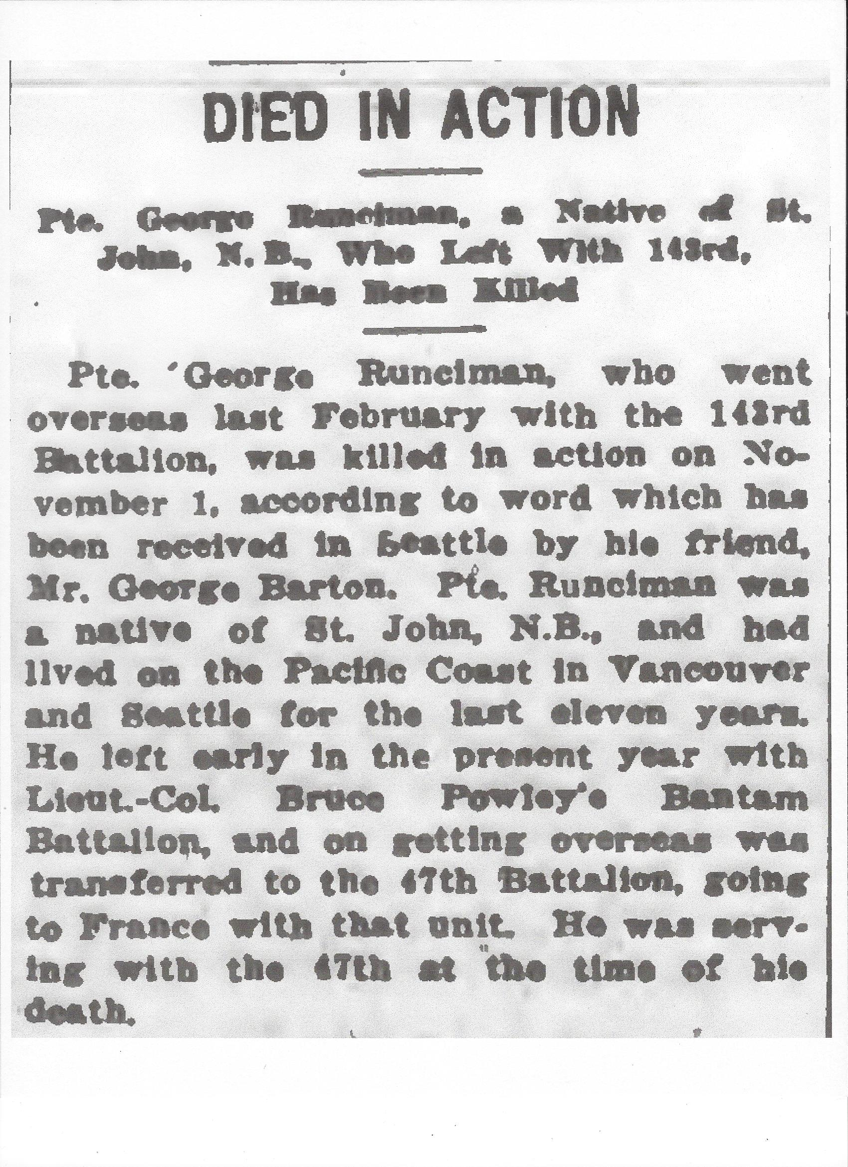 Newspaper Clipping– Newspaper clipping from the Daily Colonist of November 21, 1917. Image taken from web address of http://archive.org/stream/dailycolonist59y298uvic#page/n0/mode/1up