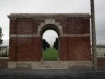 Entrance– Entrance, Nine Elms British Cemetery, Belgium Photo courtesy of J. Elliott/J. Rutledge, The Men of Huron WW1 Project