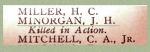 Nom sur le Tableau d'honneur – Détails du nom de Soldat James Harold Minorgan sur la liste d'honneur de 1914-1918 de la Merchants Bank of Canada.