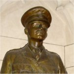 Statue– Statue dedicated to Lieutenant Colonel George Harold Baker.  Located inside the Canadian Parliament Buildings, Ottawa, Ontario.