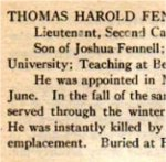 """Roll of Service– From the """"University of Toronto / Roll of Service 1914-1918"""", published in 1921."""