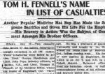 Newspaper clipping– MEDICINE HAT NEWS THURSDAY MAY 26 1916