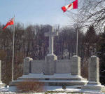 Paris War Memorial– Paris Ontario War Memorial. An unveiling and dedication ceremony was conducted at the memorial on November 11th, 1930. The memorial was unveiled by Mrs. R. Baldwin, mother of Nursing Sister Dorothy Baldwin. A dedicatory address was made by Lt.-Col. the Ven. Archdeacon F. G. Scott, D.S.O. (Canon Scott). Bands of the 10th Brant Dragoons and the 1st Dufferin Rifles assisted in the service. The memorial was designed and built by the Hunter Granite Works, Simcoe, Ontario. It is inscribed: 1914 - 1918 / TO THE GLORY OF GOD AND TO THE MEMORY OF THE MEN AND WOMEN OF PARIS WHO FELL AND IN HONOUR OF THOSE WHO SERVED IN THE GREAT WAR.