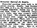 Newspaper Clipping– From the Perth Courier for 21 December 1917.