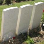 Cimetière – La tombe de John Crossley. Elles ont été prise à la demande de la parenté à Cornwall, en Ontario.