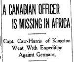 Coupure de presse – Du Toronto Star du 11 Novembre 1914.