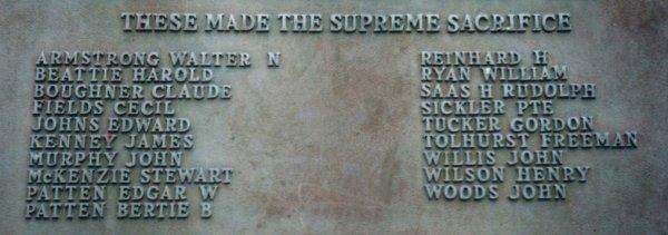 Detail of Memorial Tablet