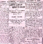 Newspaper Clipping– Newspaper reported the death of Frank Quinlan, Lt. 5th Pioneers.