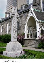 War Memorial– War Memorial dedicated to the members of St. Paul's Presbyterian Church who lost their lives in the first and second World Wars.  Located on the grounds of the church at 70 James Street South in Hamilton, Ontario.