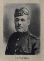 Photo of Alfred Campbell– Memorial from the Great War 1914-1918: a record of service published by the Bank of Montreal 1921.