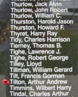 Memorial– Flying Officer Arthur Andrew Tilton is commemorated on the Bomber Command Memorial Wall in Nanton, AB … photo courtesy of Marg Liessens