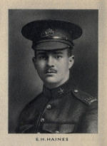 Photo of Edward Hanam Haines– From Memorial from the Great War 1914-1918: a record of service published by the Bank of Montreal 1921.