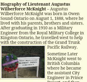 Biography– Bio http://portmoodymuseum.org/trench/