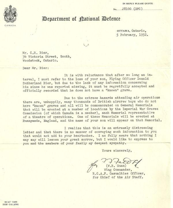 Letter (February 5, 1952)