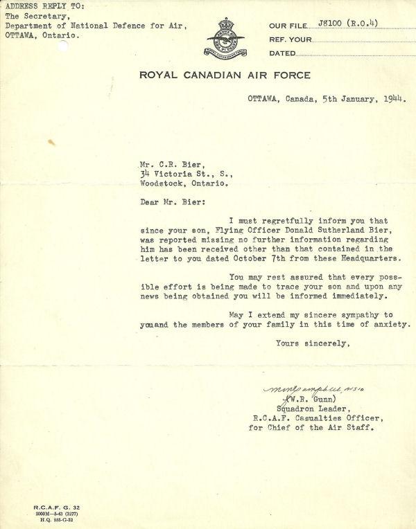 Letter (January 5, 1944)