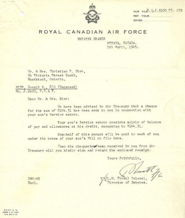 Letter (April 5, 1944)
