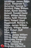 Memorial– Flying Officer Clifford Marvin Bingham is also commemorated on the Bomber Command Memorial Wall in Nanton, AB … photo courtesy of Marg Liessens