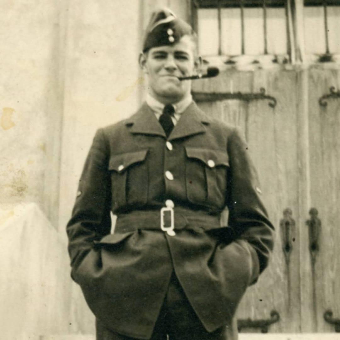 Photo of Robert Bishop– Photo taken just prior to Robert's deployment in 1941.  Taken in Vancouver, British Columbia