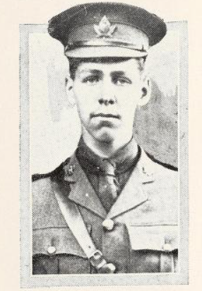 Photo of HOWARD PRIMROSE PRIMROSE– Photo from the National Memorial Album of Canadian Heroes c.1919. Submitted for the project, Operation: Picture Me.