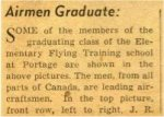 Newspaper Clipping– From a Winnipeg Tribune clipping.