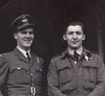 Group Photo– John Bradford (right) and Alex Carmichael childhood friends overseas WW11.