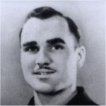 """Photo of John Albert Buick– Cecil Pittman travelled with the Royal Winnipeg Riffles Association when they participated in the 40th Anniversary of the D day tour to the Normandy beaches (Juno Beach) in 1984, the Royal Winnipeg Riffles """"pilgrimage"""" tour in 1989, the year the memorial was unveiled in the little village of Audrieu and the Royal Winnipeg Riffles 50th Anniversary tour in 1994. He also attended the unveiling ceremonies of the Juno Beach Memorial located in Normandy, France in June of 2003.  Mr. Pittman has researched information through the National Archives, military histories, former veterans and from any other materials he can locate. In 2002, he completed 104 stories for the Manitoba Geographical Names Program (Lakes, Rivers, Islands, etc are named after Manitoba's world War II and the Korean Conflict casualties) Several soldier's photo from his collection were included with these stories in the Map Branch's publication """"A Place of Honour"""".  (Notes taken from the Cecil Pittman's photo collection)"""