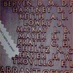 Malta Memorial (2)– Malta Memorial - Halbert's Name on Plate.
