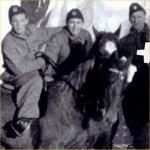 Photo of Charles Halbert Pratt (5)– Halbert on horse (at right) with friends from Saskatchewan Lighthorse.