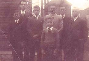 Group Photo– Doug, Bill, Hugh, Mac, Don, Arthur and Chuck in front.  Submitted for the project, Operation Picture Me