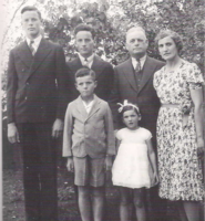 Photo of Family– BR Rod, Jerry, Donald Sr. and Blanche. FR Don Jr. and Wendy. Submitted for the project, Operation  Picture Me