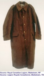 Overcoats– Overcoats typical of those worn by the Royal Newfoundland Regiment.