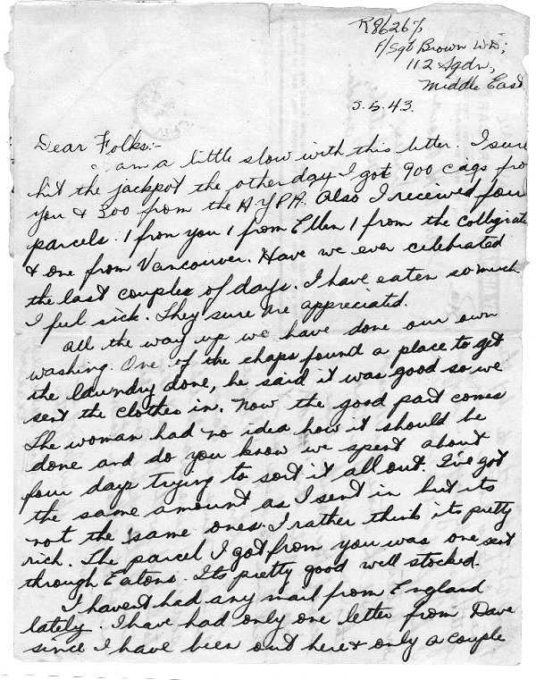 Letter dated 5 May 1943