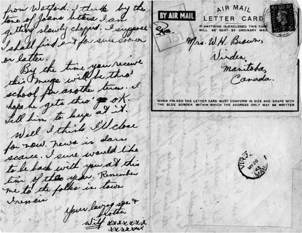 Letter dated 5 May 1943 (Part 2)