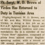 Newspaper Clipping 2– Newspaper Clipping regarding Wilfred D. Brown.