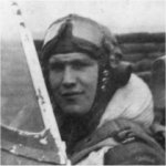 "Photo 2 of Wilfred D Brown– W/O Wilfred Brown in the cockpit of his P-40 Kittyhawk III, while flying with the 112 (RAF) ""Shark"" Squadron from October 1942 to his death in September 1943."