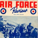 Air Force Review July 1943– Wilfred Brown (far left) poses with his squadron buddies (112 RAF) in July 1943 for the cover of Air Force Review.