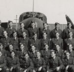 Group Photo– Frederick Albert Duquette graduation of aviation class RCAF in Calgary, AB 1941.