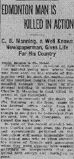 Newspaper Clipping– Calgary Herald; January 17, 1916 page 6