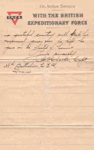 Page 4 of letter from Captain H. B. Clark