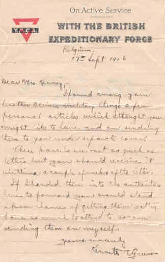 Letter from Kenneth Green