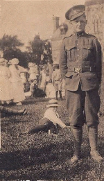 Photo of Oliver Webb Paynter– This picture was taken on Parliment Hill the day Oliver Webb Paynter left for Europe. He was born Sept. 16, 1899 and was killed on Sept 13, 1916 3 days before his 17th birthday. He was killed at the bloody battle of The Somme east of Kemmel Hill, at the southern end of Ypres Salient.