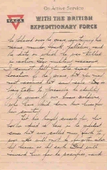 Page 3 of letter from Captain H. B. Clark– Page 3 of 4.  Letter from Captain H. B. Clark 38th Battalion C.E.F., France.