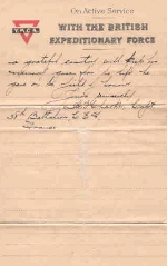 Page 4 of letter from Captain H. B. Clark– Page 4 of 4.  Letter from Captain H. B. Clark 38th Battalion C.E.F., France.