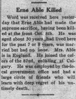 Newspaper Clipping– CRANG & CANYON NOVEMBER 4 1916