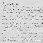 Letter (October 12, 1916)– First page of a letter Lt. Acheson wrote home to a loved one less than a month before his death.  Page two follows, as well as a typed transcript.  Private collection