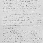 Letter (October 12, 1916)– Second page of a letter Lt. Acheson wrote home a few weeks before his death.  Private collection
