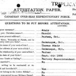 Attestation Paper (page 1)– Attestation paper for Harold Adair.