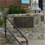 Waterdown Memorial Hall– View of the Waterdown Memorial Hall (1922) and the War Memorial plaques. The street address is 317 Dundas Street, Waterdown, ON.