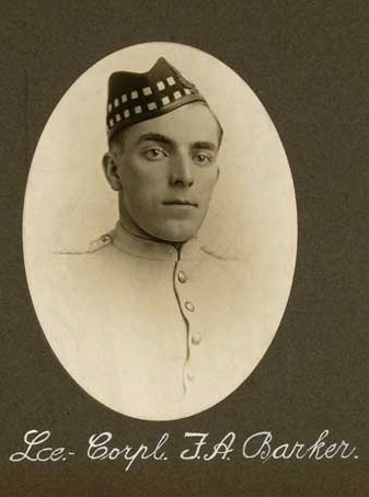 Photo of Frederick Arthur Barker– Pte Barker submitted by 15th Bn memorial Project Team.
